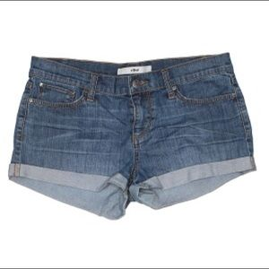 ELSE Cuffed Jean Shorts